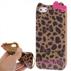 Чехол Hello Kitty Леопардовый для iPhone 5