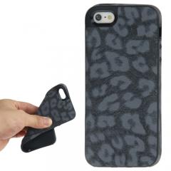 Чехол Леопард для iPhone 5 черный