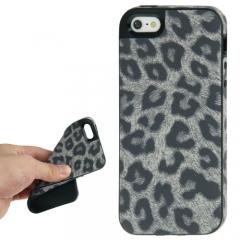 Чехол Леопард для iPhone 5 серый