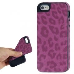 Чехол Леопард для iPhone 5 розовый