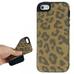 Чехол Леопард для iPhone 5 коричневый