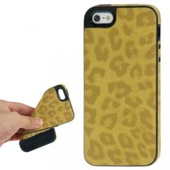 Чехол Леопард для iPhone 5 желтый