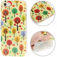 Чехол силиконовый Лес для iPhone 5