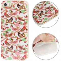 Чехол силиконовый Птички для iPhone 5