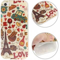Чехол силиконовый Paris для iPhone 5