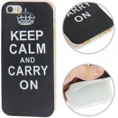 Чехол силиконовый Keep Calm для iPhone 5 черный