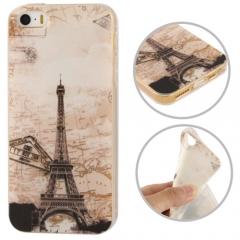 Чехол силиконовый Эйфелева Башня для iPhone 5