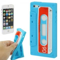 Чехол Кассета для iPhone 5S голубой