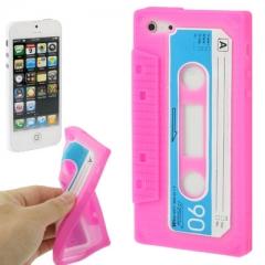 Чехол Кассета для iPhone 5S розовый