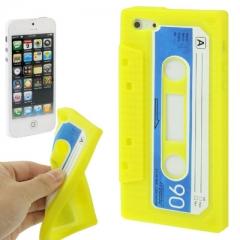 Чехол Кассета для iPhone 5 желтый