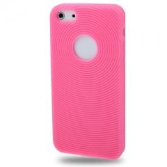 Чехол силиконовый для iPhone 5 малиновый