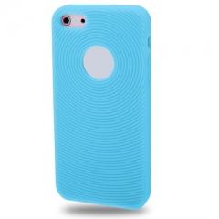 Чехол силиконовый для iPhone 5 голубой