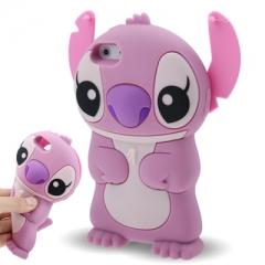 Чехол Стич для iPhone 5S розовый