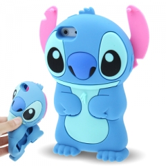 Чехол Стич для iPhone 5S голубой