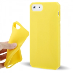 Чехол силиконовый для iPhone 5 желтый