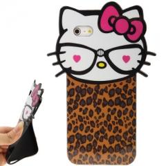 Чехол Hello Kitty для iPhone 5S леопардовый