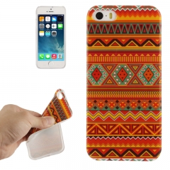 Силиконовый чехол орнамент для iPhone 5S красный