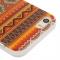 Силиконовый чехол орнамент для iPhone 5 красный
