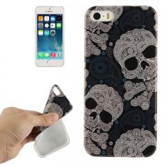 Чехол силиконовый Череп для iPhone 5