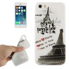 Силиконовый чехол Paris для iPhone 5S