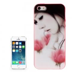 Чехол силиконовый для iPhone 5S Girl
