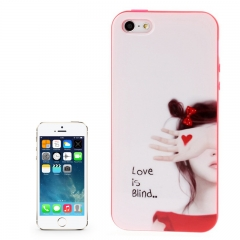 Чехол силиконовый для iPhone 5S Girl 1