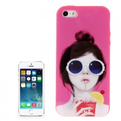 Чехол силиконовый для iPhone 5S Girl 2