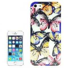 Чехол Бабочки для iPhone 5S синий