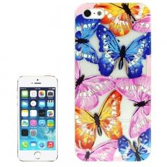 Чехол Бабочки для iPhone 5S фиолетовый
