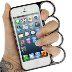 Чехол Кастет для iPhone 5S серый