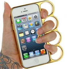 Чехол Кастет для iPhone 5S золотой
