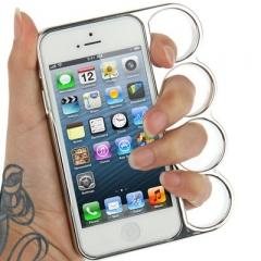 Чехол Кастет для iPhone 5 серебряный
