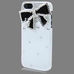 Чехол для iPhone 5S Бантик со стразами