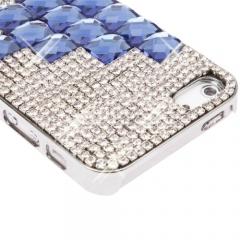 Чехол для iPhone 5 со стразами синий