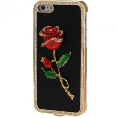 Чехол Роза для iPhone 5 со стразами