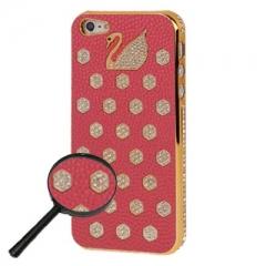 Чехол Swarovski для iPhone 5 розовый