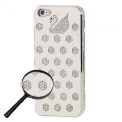 Чехол Swarovski для iPhone 5S белый