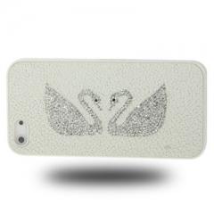 Чехол Сваровски для iPhone 5S белый