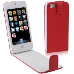 Чехол - книжка красный для iPhone 5S