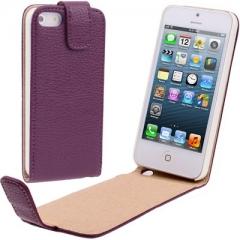 Чехол - книжка для iPhone 5 фиолетовый