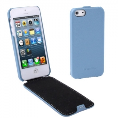 Чехол - книжка Melkco для iPhone 5 голубой
