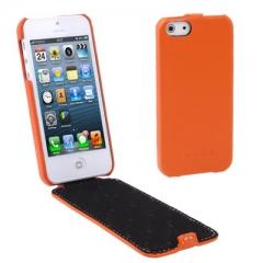 Чехол - книжка Melkco для iPhone 5 оранжевый