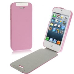 Чехол - книжка для iPhone 5 розовый на магните