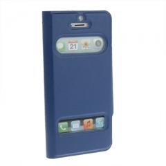 Чехол - книжка Flip Case для iPhone 5 синий