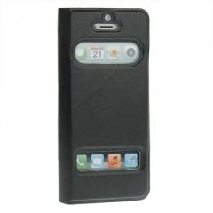 Чехол - книжка Flip Case для iPhone 5 черный