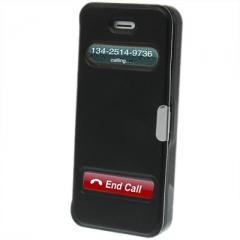 Чехол - книжка Flip Case на магните для iPhone 5 черный