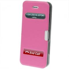 Чехол - книжка Flip Case на магните для iPhone 5S розовый