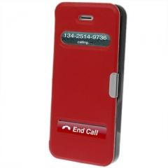 Чехол - книжка Flip Case на магните для iPhone 5 красный