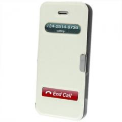 Чехол - книжка Flip Case на магните для iPhone 5 белый