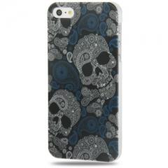 Чехол для iPhone 5S Череп серый